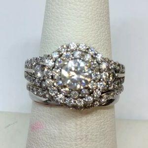 Stunning 2.25 carat 14k diamond ring set